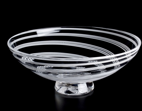 Wedding Series - Cane Bowl (Clear with White Canes)