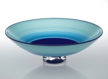 Incalmo Bowl - Lapis, Turquoise, and Pale Blue / Lapis Lip