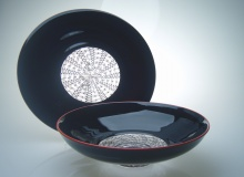 Black & Red Incalmo Group - Plate and Bowl