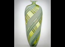 Tessera - Bottle - Opaque Turquois and Celadon with Transparent Lime